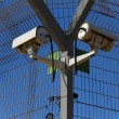 Secured industrial zone with Security camera — Stock Photo #15870297