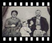 Familj. 1885. palestina — Stockfoto