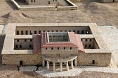 Model of the ancient Jerusalem. Palace — Stock Photo