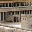 Basilica in Second Temple. Ancient Jerusalem. - Stock Photo