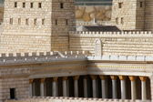Second Temple and Anthony's castle in ancient Jerusalem — Stock Photo