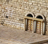 Second Temple. Hulda Gate — Stock Photo