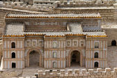 Palace of Adiabene Empress Helena . Model of the ancient Jerusalem. — Stock Photo