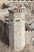 Walls of ancient Jerusalem. Tower Psefanus. — Stock Photo