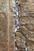 Notes to God in the Western Wall in Jerusalem, Israel — Stock Photo