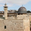 Al Aqsa and   minaret — Stock Photo