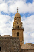 Dormition Abbey Bell-Tower on Mount Zion — Stock Photo