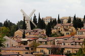 Panorama of West Jerusalem. Montefiore Windmill — Stock Photo