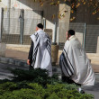 Stock Photo: Unidentified religious Jews go from synagogue