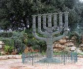 Menorah devant la knesset, à jérusalem — Photo