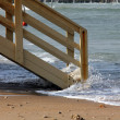 Lifeguard station  in winter - Stock Photo