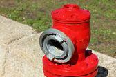 Metalowe hydrantowe - widok z przodu — Zdjęcie stockowe