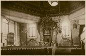 Photo rétro de l'intérieur de la vieille synagogue en bois à grodno, biélorussie, xviiie siècle apr. j.-c — Photo