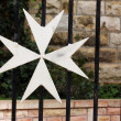 Maltese cross. Jerusalem. Israel — Stock Photo