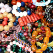 Stock Photo: Women's jewelry at flemarket. Selective focus