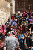 Pilgrims from South-East Asia near Church of the Holy Sepulcher — Stock Photo