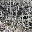 Metal grille mesh waste — Stock Photo #22772392