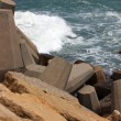 Stock Photo: Part of walking dam walls off marinfrom sea