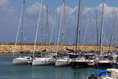 частные яхты пришвартованы в марина — Стоковое фото