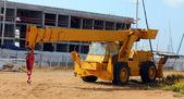 Old yellow crane — Stock Photo