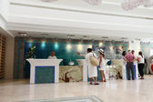 Reception of the new hotel at the Dead sea in Neve Zoar, Israel — Stock Photo