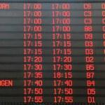 Flights departure information timetable — Stock Photo #31474621