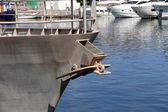 Ship with raised anchor closeup — Stock Photo