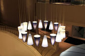 Modern multi-colored chandelier — Stock Photo