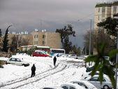 снег на улице после массивных снегопада — Стоковое фото