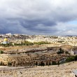 Landscape from Mount Olives at the winter day. Jerusalem, Israel — Stock Photo #38040645