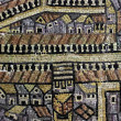 Copy of the mosaic map of Jerusalem from the Byzantine period — Stock Photo