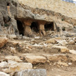 Stock Photo: Ancient tomb caves at Kidron valley in Jerusalem, Israel