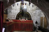 Chapel of Saint Joseph, Mary's husband in the Tomb of the Virgin Mary. Jerusalem — Stockfoto
