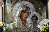 Icon of Our Lady of Jerusalem (Gethsemane) — 图库照片