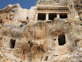 Ancient tomb cave of Bnei Hezir in Jerusalem — Stock Photo
