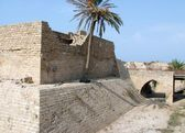 Crusader fortress. Ancient Caesarea — Stock Photo