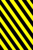Yellow and black warning sign — Stock Photo