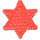 Judaism religious symbol - star of david — Stock Photo