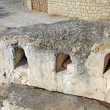 Stock Photo: Burial caves from First Temple on Mount Scopus. Jerusalem