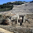 Kidron Valley, the tomb of Absalom and the Mount of Olives — Stock Photo