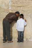 Prayer at Western wall. Jerusalem. Israel — Stock Photo