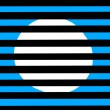 ������, ������: White circle on a blue background behind a black grille