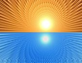 Rays  in abstract orange gold   universe — Foto Stock
