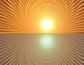 Rays  in abstract orange gold   universe — Stock Photo