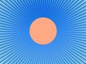 Promienie w streszczenie wszechświat niebieski pomarańczowy — Zdjęcie stockowe