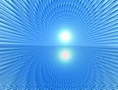 лучи в абстрактных оранжевом голубой вселенной — Стоковое фото