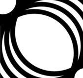 Black white oval pattern frame — Stock Photo