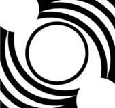Cadre motif ovale blanc noir — Photo