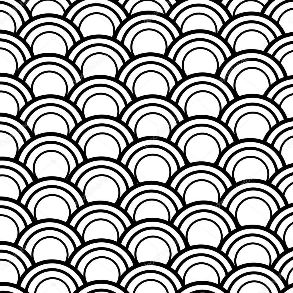 Fish Pattern Drawing Fish Scale Pattern — Photo