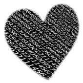 桁のシーケンス ストリーム心臓形状の背景 — ストック写真
